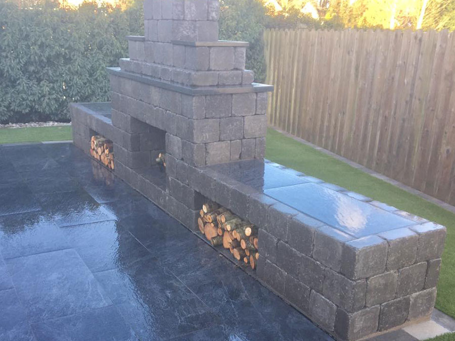 Fireplaces Landscaping services - Professional Paving and Landscaping Contractors in Crossgar - Dornans Paving and Landscaping